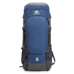 Borse da esterno 65L Zaino da escursionismo impermeabile Sport Viaggio Daypack per uomo Donne Camping Trekking Touring Grande capacità1