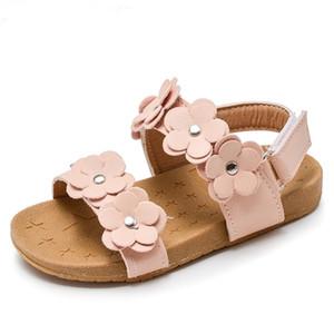 Mumoresip nueva moda caliente venta chicas sandalias niños zapatos de verano 1-5 años niños zapatos de playa sandalias con flores florales suave J1211