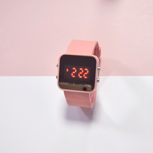 factory Spot new LED mirror table square student electronic watch fashion cool multi-color couple junior high school student table