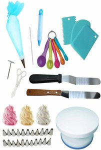 Cake Decorating supplies cake decorating turntable Stand 68 Pieces baking kit