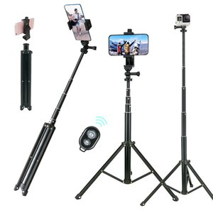 "Lightweight Selfie Stick Tripod Stand 51"" Extendable Phone Mount Stand Wireless Remote For iPhone 11 Pro XR Gopro Digtal Camera Y1117"