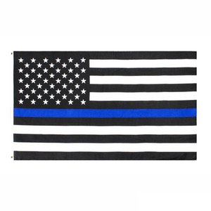 2020 direct factory wholesale 3x5Fts 90cmx150cm Law Enforcement Officers USA US American police thin blue line Flag