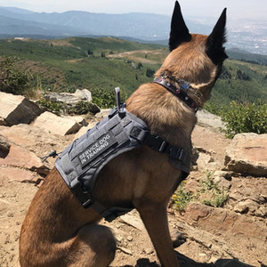 Tactical Pet Dog Harness K9 Working Dog Collar Vest With Handle Dog Leash Lead Training For Medium Large Dogs German Shepherd Q1119