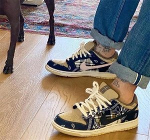 Designer Tràvìs Scòtt Sß Dùnk Low Jackboys Slipper Scarpe Fashion Hommes Chaussures Girl Board Men shoes Sneakers 36-45