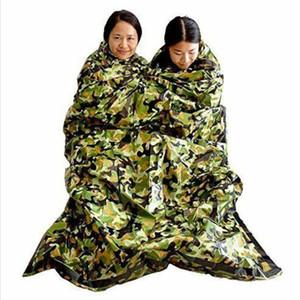 First Aid Emergency Blanket Camouflage Survival Emergency Sleeping Bag Keep Warm Waterproof Mylar Hot Outdoor Camping Sleeping Bags LXL962-1