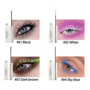 12 Colors HANDAIYAN Colorful Mascara Natural Waterproof Lasting Makeup Mascara Eyelashes Curling DHL Fast Shipping