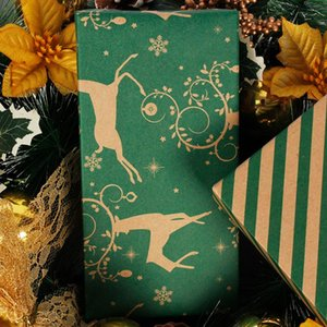 Packaging Bags Double-sided Christmas Wrapping Paper Printing Kraft Paper Gift Wrapping Boxes for Gifts
