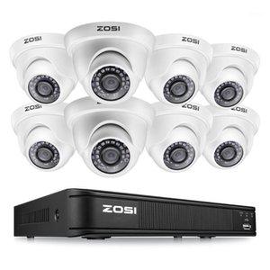 أنظمة ZOSI 8CH 1080P قبة كاميرا فيديو مراقبة نظام المراقبة حامي نظام التحكم DVR CCTV كيت BNC كابل HDD في الهواء الطلق