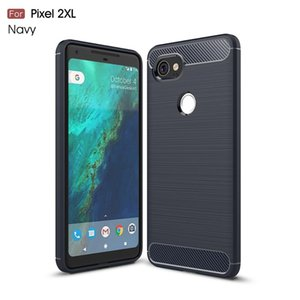TPU Soft Slim Back Case For Google Pixel 2XL tpu Anti-Knock Silicone Carbon Fiber Cover For Pixel 2 XL Phone Rubber Bumper Cases