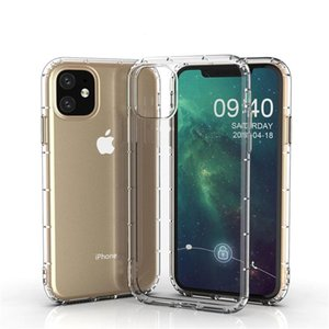 Top Quality Air Cushion Thin Slim Transparent Case For iPhone 11 Pro Max XS XR X 8 7 6 6S Plus Soft TPU Silicone Shockproof Cover