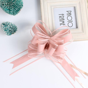 20PCS Decor Gift Hand Drawn Flowers Decoration Wedding Car Gift Packing Pull Bow Ribbons Plastic Flores Party DIY Festive Suppy