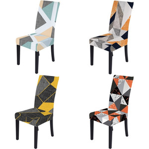 Thickening Seat Cover Elastic Force Hotel Household Geometry Printing Spandex Conjoined All Inclusive Chair Covers Home Hot Sale 12nw M2