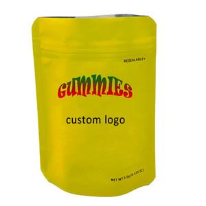 OEM Candy Bag Подгонянная упаковка Прозрачные пластиковые пакеты Печатные логотиповые наклейки Mylar Запах доказательную сумку 3,5 г 1 г Детская непромокаемая на заказ сумка