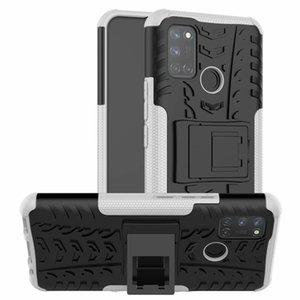 For OPPO Realme C17 Case Dynamic Armor Combo Shielder Hard Plastic Back Cover Sticker Case For OPPO Realme C17
