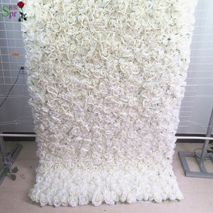 SPR roll up cloth flower wall 8ft*8ft Artificial wedding occasion backdrop arrangement flowers decorations free shipping