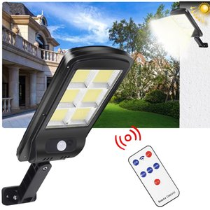 Powerful Remote Control Upgraded COB Solar Light PIR Motion Sensor IP65 Outdoor Solar Wall Street Light Waterproof Lamp