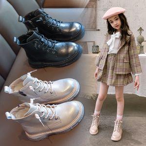 Aadct Girls Boots Moda Bambini stivali per neonate autunno autunno cotone cotone caldo marchio piccolo figlioli martin scarpe estate 201128