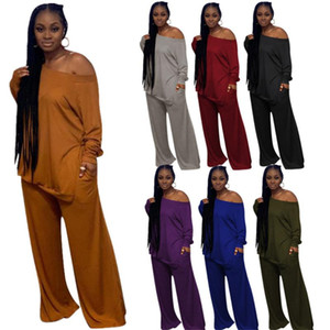 Plus Size 2 Piece Set Women Casual Solid Loose Pants Set Streetwear Women Clothing Sets Fall