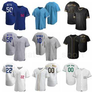 Baseball Uomo Donna Gioventù 35 Cody Bellinger Jersey 50 Mookie Betts 5 Corey Seager 33 David Prezzo 10 Justin Turner Team Blue Grey