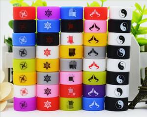 Пользовательские силиконовые Vape Band для печатных логотиповых магазинов Имя или сайта Индивидуальные силиконовые нескользящие кольца 500 шт. Бесплатный OEM 22 * 12 * 2 мм