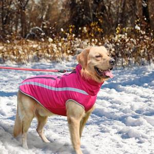 Abbigliamento da cane grande impermeabile Inverno Pet Big Dog Coat Giacca Giacca Dogs Gilet Abbigliamento per cani medio grandi Golden Retriever SQCICV