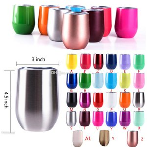 Eggs Cup Stainless Steel Tumbler Double Wall Water Bottle Wine Glasses Beer Mug Kitchen Bar Drinkware with Lid Commuter Travel Mugs