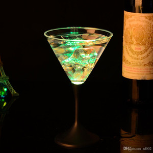 LED Light Goblet Novelty Luminous Cup Colorful Flash Design Cocktail Cups For Creative Gift Bar Supplies Romantic Style 5 7jc ZZ