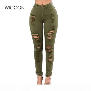 New Fashion Plus Size 3XL Ripped Jeans Women Skinny Hole Ripped Denim Pants Female Fasion Casual High Waist Jeans