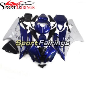 Motorcycle ABS Bodywork For YAMAHA YZF600 2006 2007 R6 06 07 YZF 600 Complete Plastic Injection Fairings Kit Blue White
