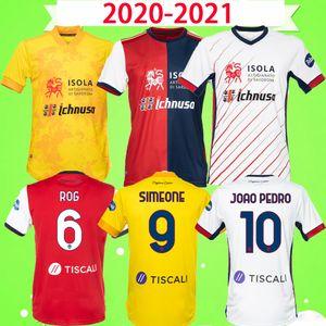 2020 2021 Cagliari Calcio Soccer Jersey Simeone Rog 20 21 Joao Pedro Maglie Da Calcio Simeone Футбольная рубашка Мужская детская Комплект Мальчики Третье