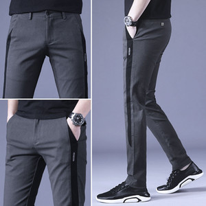 Combed cotton Leisure trousers New Golf Pants Young men Spring Autumn Self-cultivation Slim-fit Walking Office Big size 28 - 38 Q1201