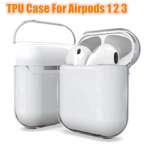ل Apple iPhone AirPods 1 2 3 حالة واضحة TPU غطاء واقية على القرون الهواء سماعة حالات حالات