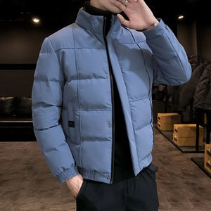 Winter Men's New Men's Cotton Padded Clothes Trendy, Handsome and Fashionable Bread Type Cold Proof and Warm Leisure Down Cotton Padded