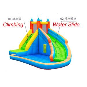 O jardim inflável molhado ou seco da corrediça suplienta saltos jumper escorregas do salto do salto para crianças parques aquáticos do partido ao ar livre com piscina