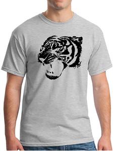 MocL Mens Soft Printed Cotton Comfort Art Animal Tige rTooth Short Sleeve Crew Neck T-Shirts Sweatshirt