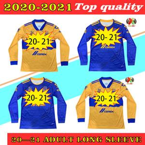 Manga larga 2020 2021 Tigres Naul Tigres Uanl Soccer Jerseys 7 Estrellas Camiseta de Futbol México Liga MX Camisa de fútbol Gignac Full Manga