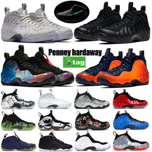 Top Quality Posite One Penny Hardaway Shoes Anthracite Mousse Mens Basketball Chaussures Halloween Blanc Blanc Blanc Université Red Baskets Entraîneurs