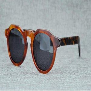Mongoten Brand Design Ретро Унисекс Полный RIM Ацетат Поляризованные Очки UV400 Защита Черный для Вождения Солнцезащитные Очки