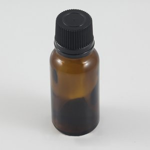 Botella de AMBER DE ACEITE ESENCIALES DE ALTA CALIDAD 20ML CON LOS TAPA DE PRESIONADA DE PLÁSTICO DE PLÁSTICO MARRÓN / NEGRO