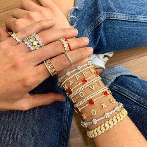 2021 Weihnachtsgeschenk Schmuck Regenbogen CZ Star Armband für Mädchen Frauen Erweitern Kette Klassische Sterne Design Schmuck Großhandel