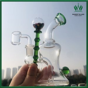 Beaker Bong Water Pipes Smoking Accessories Green Glass Water Bongs Hookahs Oil Rigs Dab Bong Recycler Rigs With 14mm banger
