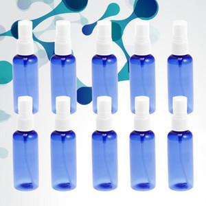 10Pcs 30ml Empty Spray Bottle PET Subpackaging Bottles Portable Liquid Bottle (White Spray Nozzle and Blue Bottle)