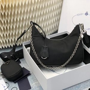Nylon re edition 2005 small red multi pochette pra shoulder crossbody chain bag 2020 Hot Solds Womens Bags Designers Handbags Purses bolso