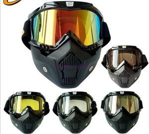 10pcs Men Women Ski Snowboard Eyewear Motorcycle Motocross Racing Goggles Outdoor Sports Glasses Mask Sunglasses
