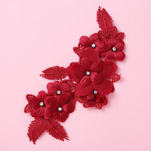 Fashion Headpiece Leaf Flower Crystal Wedding for Pearl Women Girls Headdress Hair Accessories 2020