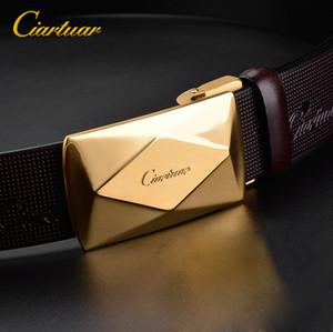 2020 CIARTUAR TIENDIENTE OFICIAL DE CIARTUAR NUEVO Diseño Cinturón de alta calidad Cinturón Correa de cuero genuino Primera capa Sliver Shin Hebilla Envío gratis
