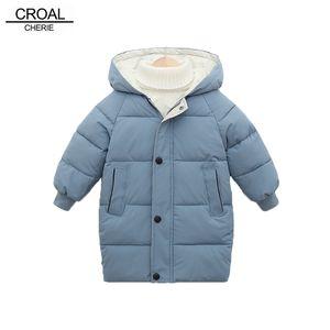 Croal Cherie Snowsuit Langmantel Baby Mädchen Jungen Parka Kinder Haube Kinderjacke Winter Kleinkind Oberbekleidung