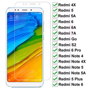 9H Tempered Glass For Xiaomi Redmi 5 Plus 5 5A S2 7A 4X 6 6A Screen Protector Glass Note 4 4X 5 5A 6 Pro Safety Protective Glass