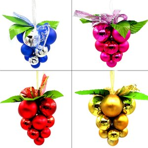Grape Shaped Ball String Ornaments Merry Christmas Artificial Small Size Grape String Hanging Decoration for Roof Ceiling GGE2150