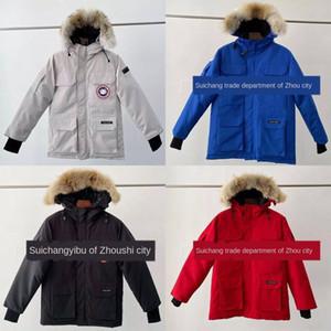 FD3B длинный с капюшоном пальто лоскутный рог Parka большая карманная куртка кнопка MSFILIA зимний экспедиционный воротник меховой повседневный 2020 густые женщины SWEE